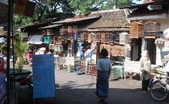 Koloniale sferen in Malang op Java, Indonesië