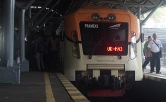 treinreis tijdens vakantie Java
