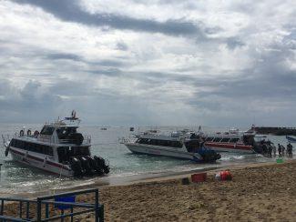Boot naar Lembongan