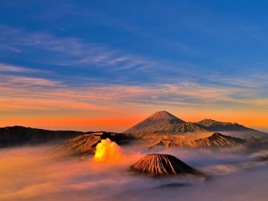 Kleuren van de natuur in Indonesië