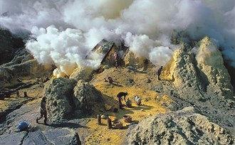De vulkaan op Java.