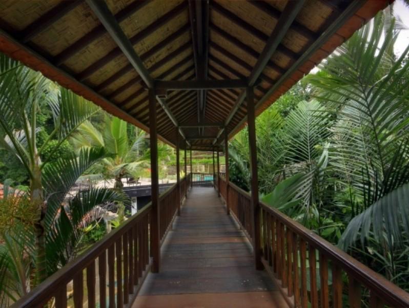 Villa's omringd door rijstterrassen