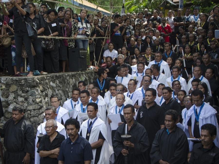 Semana Santa processie in Larantuka Flores