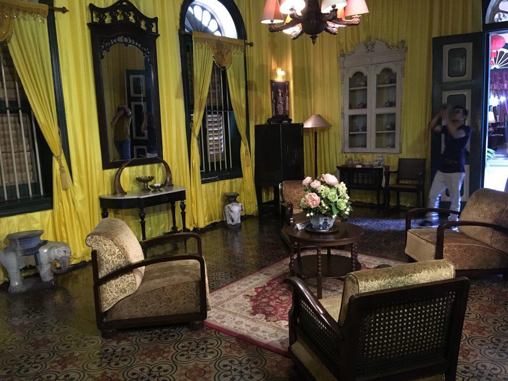 Het Tjong A Fie huis in Medan tijdens een reis met uw familie naar Sumatra
